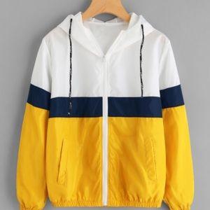 Jackets & Blazers - Yellow, navy, and white jacket NEVER WORN!